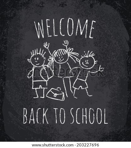 Back to school. Vector illustration - stock vector