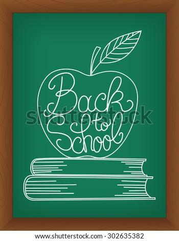 Back to school vector illustration - stock vector