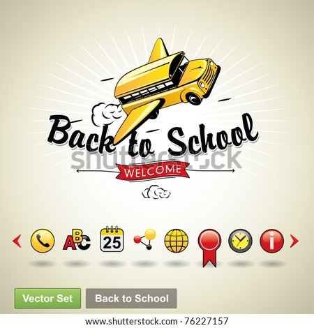 Back to school. Vector set - stock vector