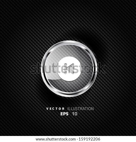 Back track web icon - stock vector