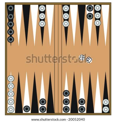 backgammon - stock vector
