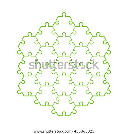 Backgriound Hexahedron Puzzle Pattern Hexagon Puzzle Stock Vector ...