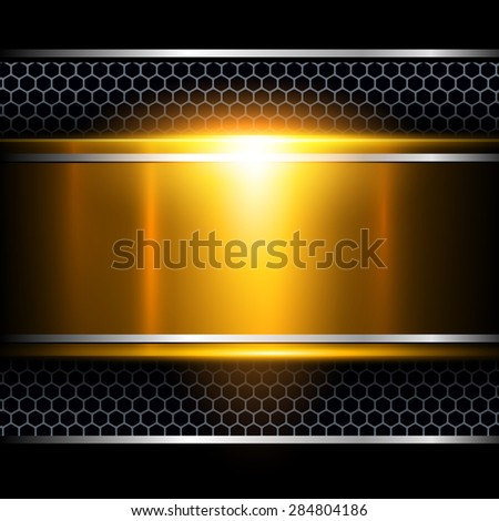 Background abstract gold metallic, vector illustration. - stock vector