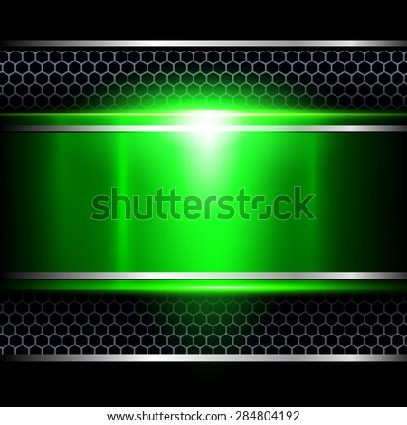 Background abstract green metallic, vector illustration. - stock vector