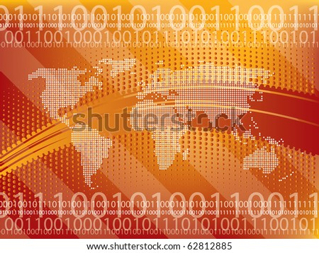 background abstract technology in vector