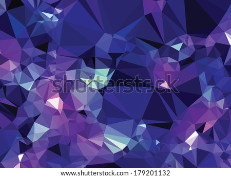 Background abstract triangle geometry pattern crystal universe - stock vector