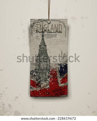 background. abstraction. Tower of London and Big Ben. Vector format - stock vector
