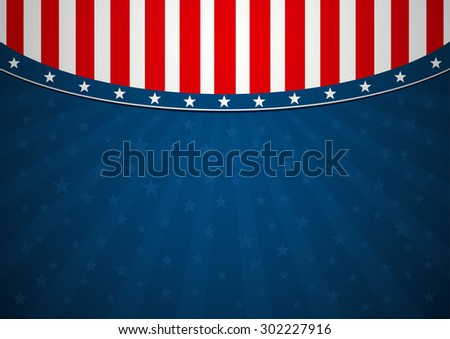 Background America - stock vector