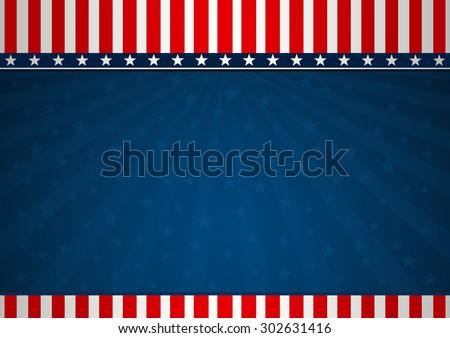 Background America - stock vector