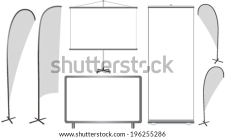 Background and signs for advertising  - stock vector