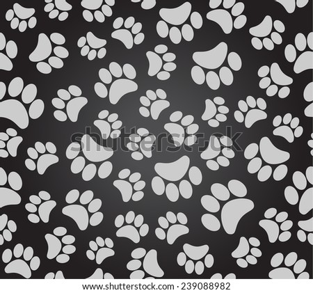 background animal footprints seamless pattern  - stock vector
