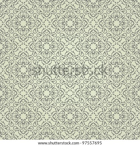 Background. Arabic floral pattern. Simples - stock vector