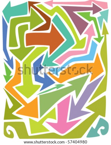 Background arrows - stock vector