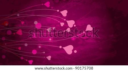 Background art heart - stock vector