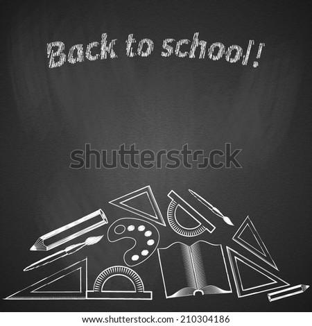 Background back to school. Vector illustration. - stock vector