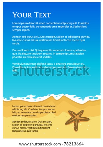 background beach for design - stock vector