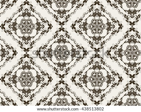 Background, black and white, pattern, vintage style, texture, victorian, baroque, gothic, modern wallpaper, graphic design, vector illustration