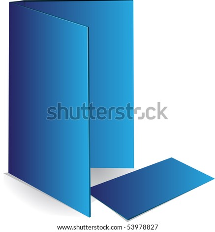 Background blue business card and document case - stock vector
