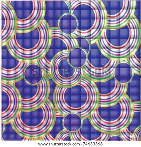 background blue circle - stock vector
