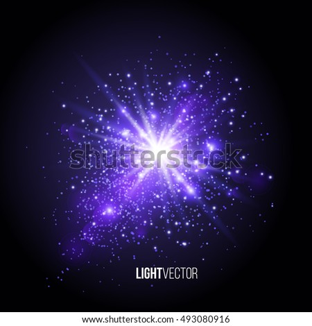 Background burst with sparkles and glitter , glow light effect. Vector illustration.
