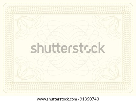 background certificate - stock vector