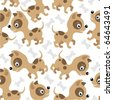 Background Chihuahua - stock vector