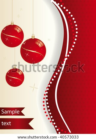 background Christmas - stock vector