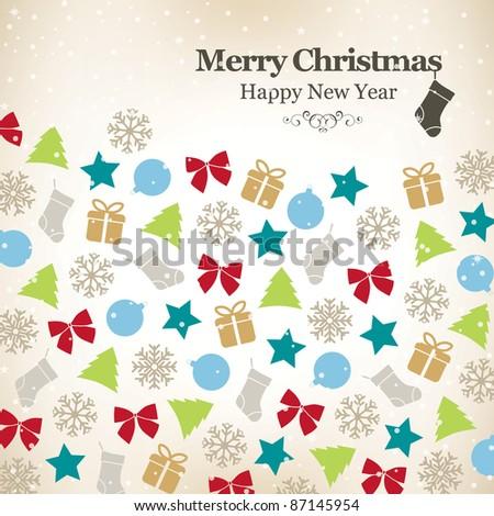 Background christmas. Christmas decoration - stock vector