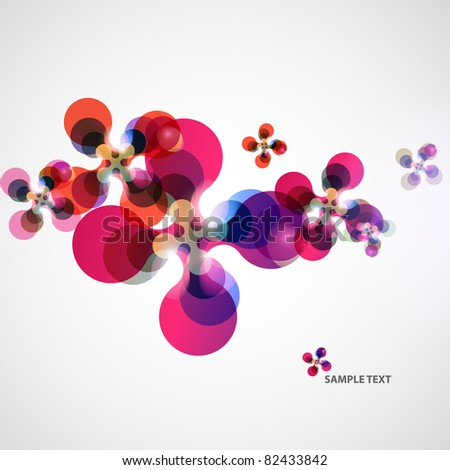 Background color of shapes - stock vector