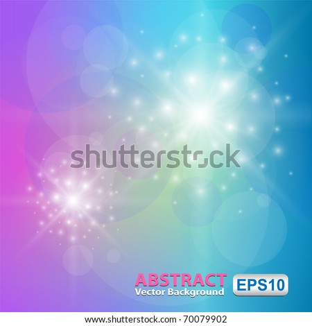 Background - colorful abstract lights, vector. - stock vector