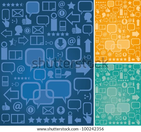 Background communication - stock vector