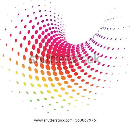 Background Composition Spectrum, Web Template (Halftone) - stock vector