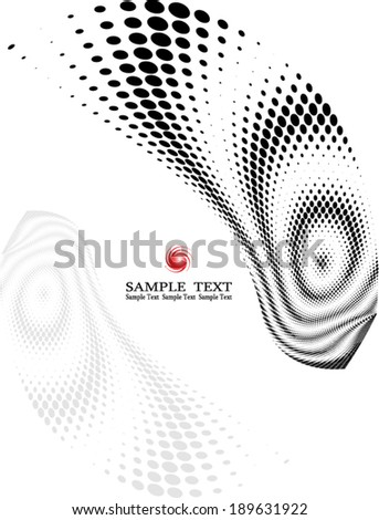 background composition, Web template (halftone) - stock vector