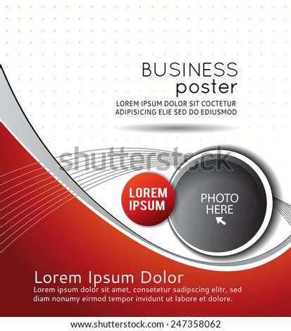 Background concept design for brochure or flyer, abstract vector illustration. Circle with waves - stock vector