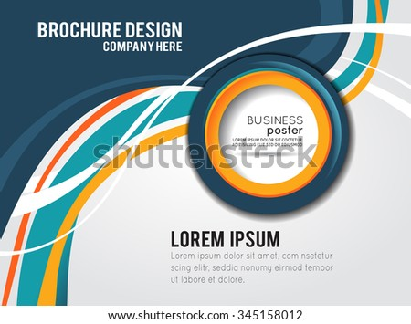 Background concept design for brochure or flyer, abstract vector illustration. Circle with wawes - stock vector