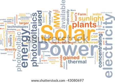 Background concept illustration of solar power energy - stock vector