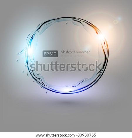 Background. Creative dynamic element to attract attention to your design idea. Fully editable. - stock vector