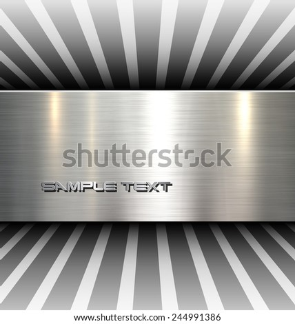 Background 3d with metal texture, vector. - stock vector