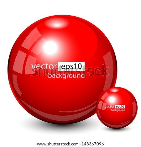 Background design, 3d red spheres, vector