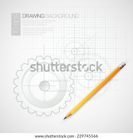 Background Drawing with Pencil. Vector illustration - stock vector