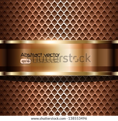 Background elegant metallic, vector illustration - stock vector
