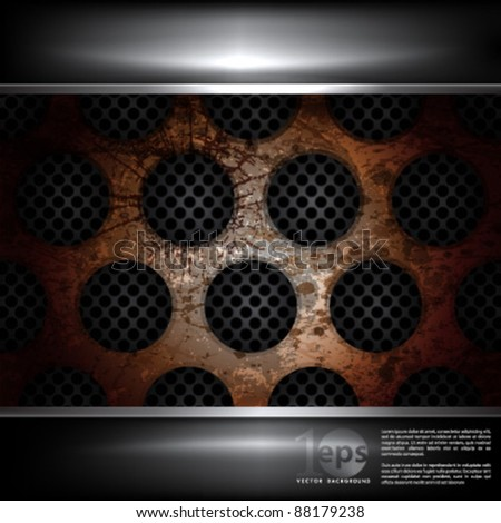 Background - eps10 Grungy and Rust Metal Vector Illustration - stock vector