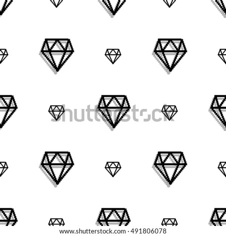 background fashion diamond style pixel art stock vector royalty