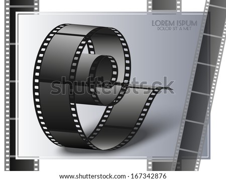Background film strip - stock vector