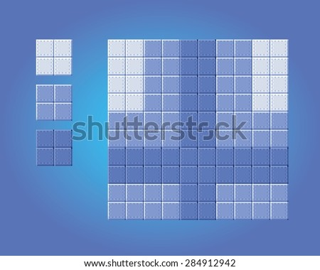 background floor game tiles - pixel art style isolated vector illustration - stock vector