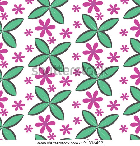 background floral pattern. Decorative Beautiful  - stock vector