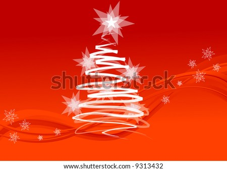 Background for Christmas card, Christmas tree, vector illustration, EPS  file included - stock vector