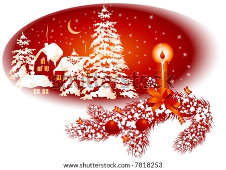 Background for Christmas card red color, vector illustration, EPS file included - stock vector