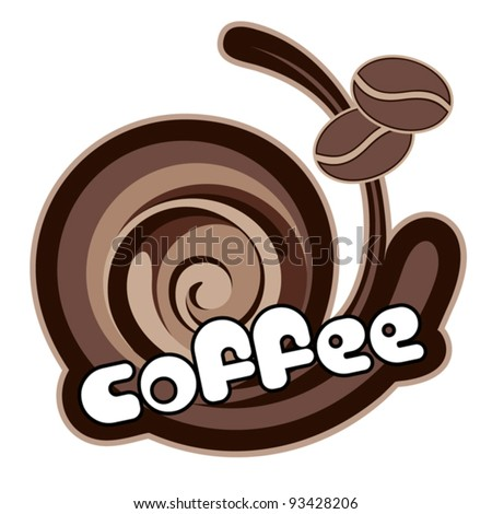 Background for design of packing. ?offee. Vector illustration. - stock vector