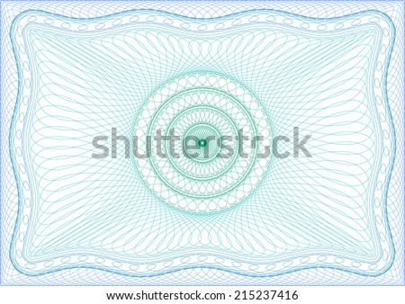 Background for diploma, certificate or passport. - stock vector